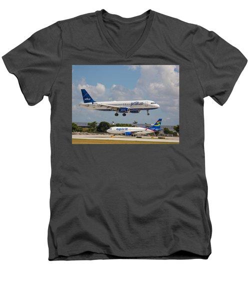 Jetblue Over Spirit Air Men's V-Neck T-Shirt