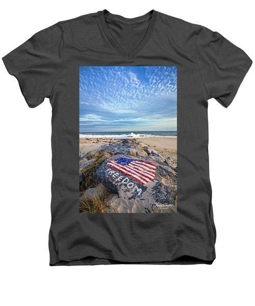 Jetty Four Beach Men's V-Neck T-Shirt