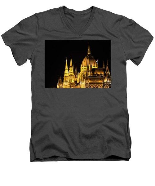 Men's V-Neck T-Shirt featuring the photograph Jewel by Alex Lapidus