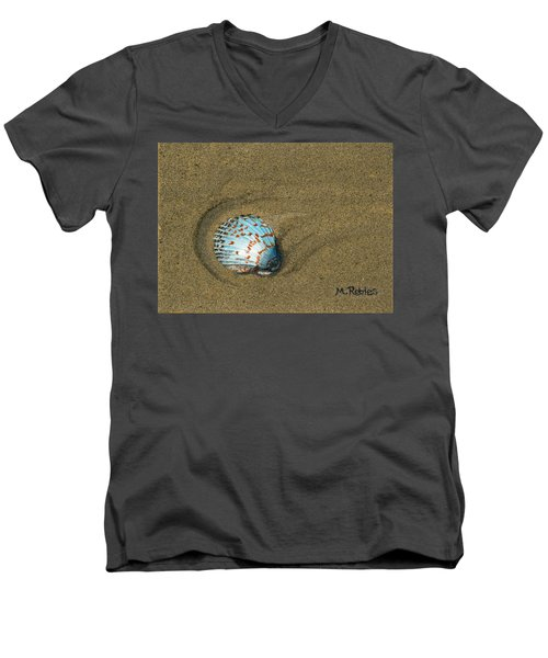 Jewel On The Beach Men's V-Neck T-Shirt by Mike Robles