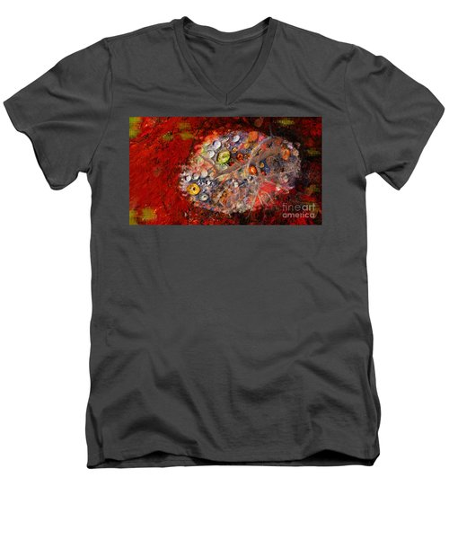 Jewels And The Japanese Maple Men's V-Neck T-Shirt