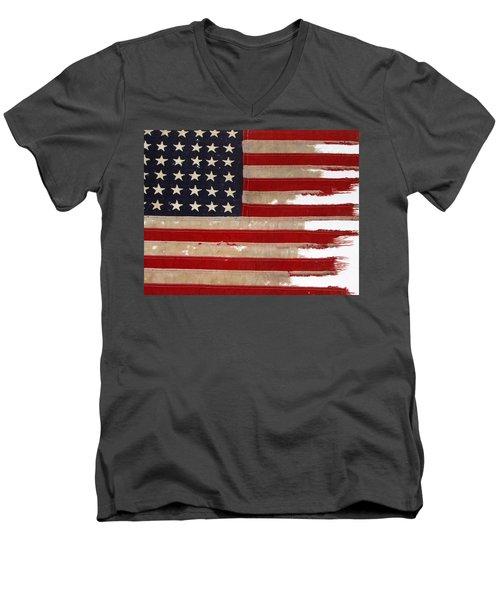 Jfk's Pt-109 Flag Men's V-Neck T-Shirt