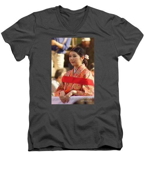 Jidai Matsuri Xxii Men's V-Neck T-Shirt by Cassandra Buckley