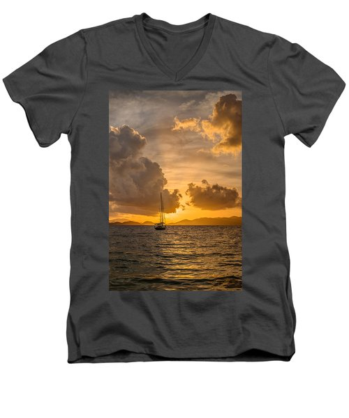 Jimmy Buffet Sunrise Men's V-Neck T-Shirt