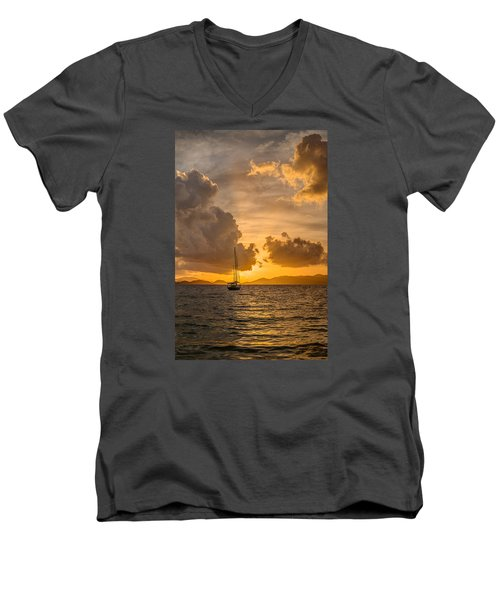 Jimmy Buffet Sunrise Men's V-Neck T-Shirt