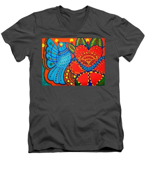 Jinga Bird - Jinga Bird Series Men's V-Neck T-Shirt