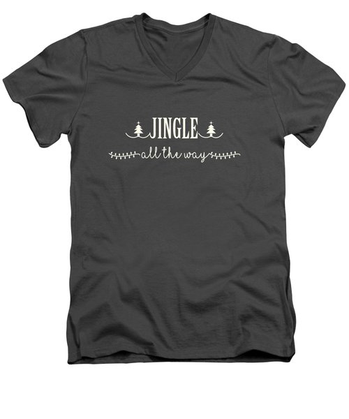 Men's V-Neck T-Shirt featuring the digital art Jingle All The Way by Heidi Hermes