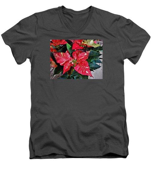 Jingle Bell Rock 3 Men's V-Neck T-Shirt by VLee Watson