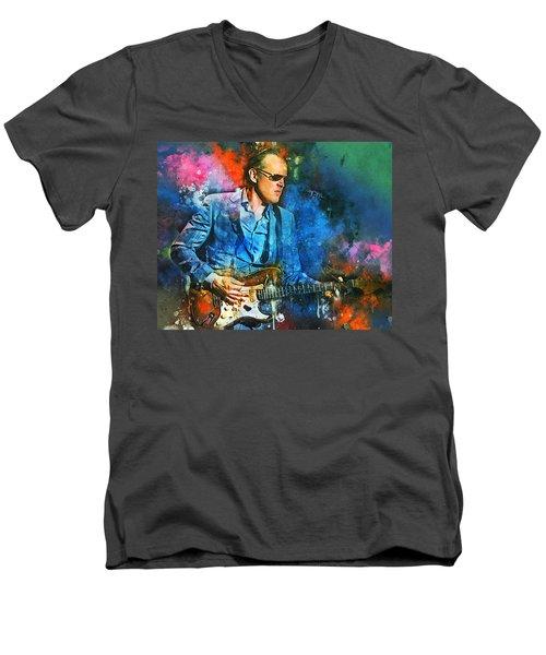 Joe Bonamassa Concerts Men's V-Neck T-Shirt