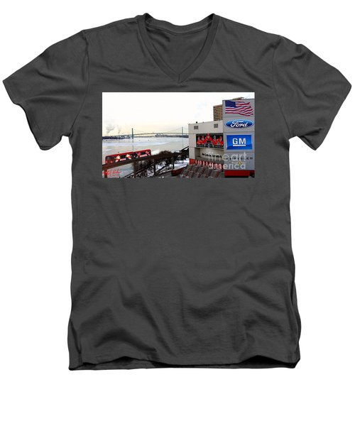 Joe Louis Arena Men's V-Neck T-Shirt by Michael Rucker