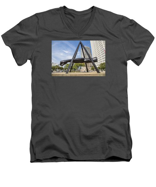 Joe Louis Fist In Detroit In Color  Men's V-Neck T-Shirt
