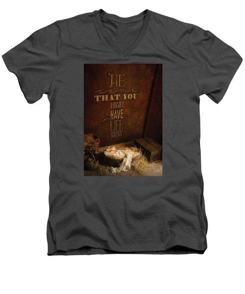 John 10 Men's V-Neck T-Shirt