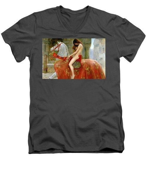 Lady Godiva Men's V-Neck T-Shirt