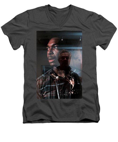 John Coltrane And Me Men's V-Neck T-Shirt
