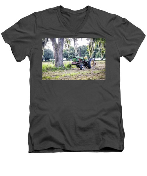 John Deer - Work Day Men's V-Neck T-Shirt