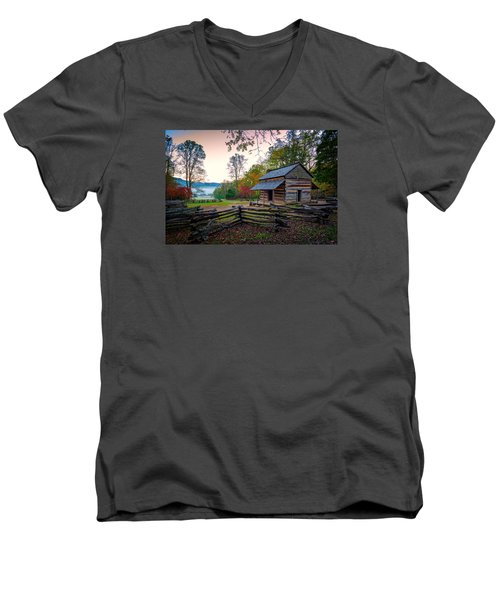 John Oliver Place In Cades Cove Men's V-Neck T-Shirt by Rick Berk