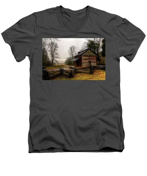John Oliver's Cabin In Cades Cove Men's V-Neck T-Shirt