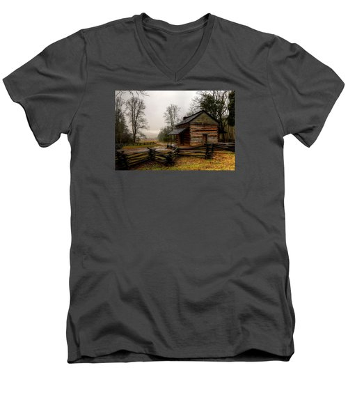John Oliver's Cabin In Cades Cove Men's V-Neck T-Shirt