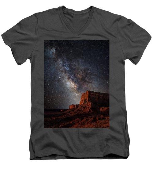John Wayne Point Men's V-Neck T-Shirt by Darren White