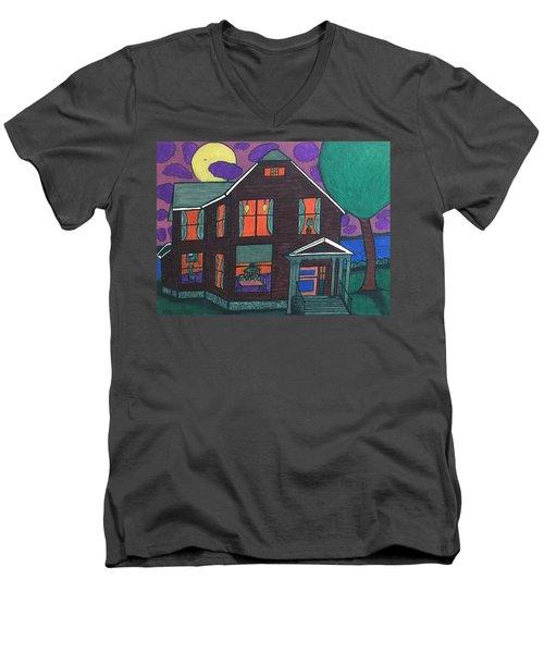 John Wells Home. Men's V-Neck T-Shirt by Jonathon Hansen