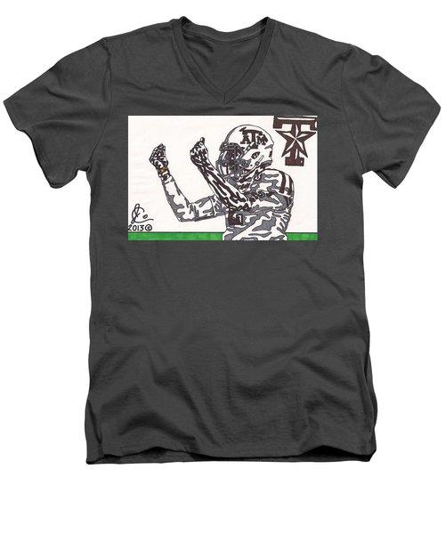 Johnny Manziel 10 Change The Play Men's V-Neck T-Shirt