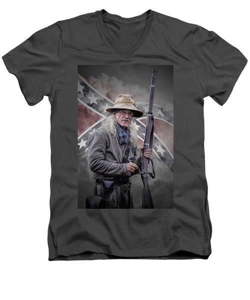 Johnny Reb Men's V-Neck T-Shirt