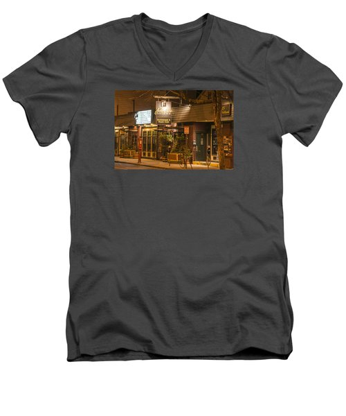Johnny Ds Music Club In Davis Square Somerville Ma Men's V-Neck T-Shirt