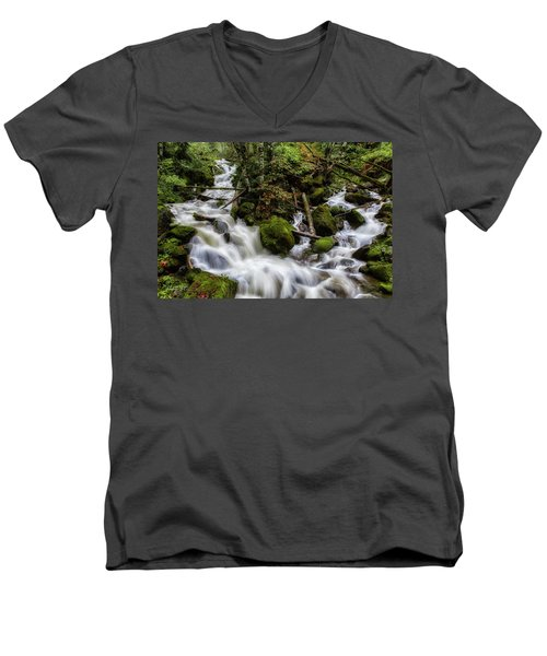 Joining Forces Men's V-Neck T-Shirt by Charlie Duncan