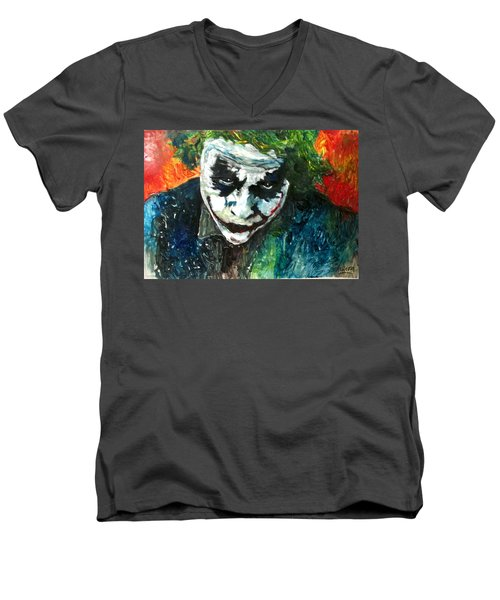 Joker - Heath Ledger Men's V-Neck T-Shirt