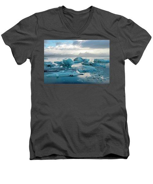 Jokulsarlon, The Glacier Lagoon, Iceland 6 Men's V-Neck T-Shirt