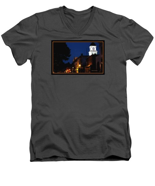 Men's V-Neck T-Shirt featuring the photograph Joneborough Tennessee 11 by Steven Lebron Langston