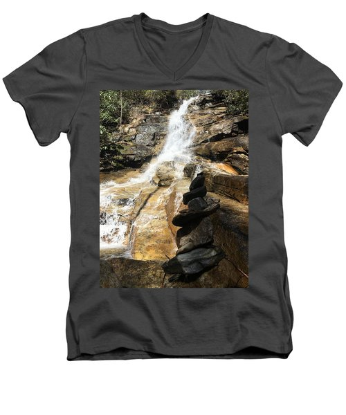 Jones Gap Falls  Men's V-Neck T-Shirt