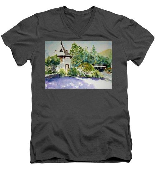 Jose Moya Del Pino Library At Marin Arts And Garden Center Men's V-Neck T-Shirt by Tom Simmons