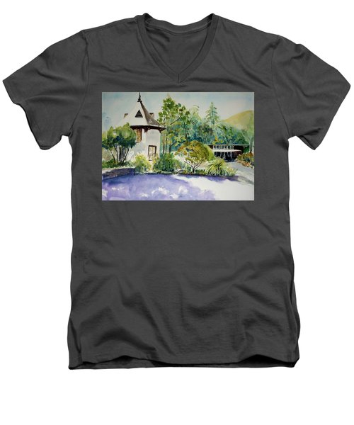 Jose Moya Del Pino Library At Marin Arts And Garden Center Men's V-Neck T-Shirt