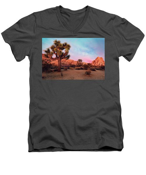 Joshua Tree With Dawn's Early Light Men's V-Neck T-Shirt