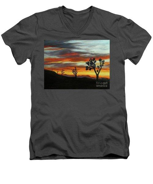 Joshua Trees At Sunset Men's V-Neck T-Shirt