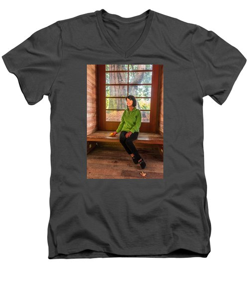 Men's V-Neck T-Shirt featuring the photograph Josie by Jerry Cahill