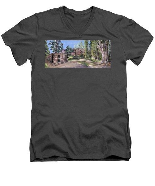 Josie's Cabin Men's V-Neck T-Shirt