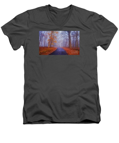Journey Continues Men's V-Neck T-Shirt by Rima Biswas