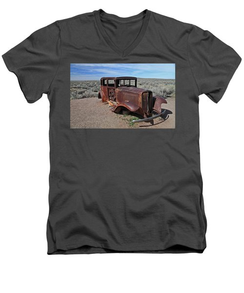 Men's V-Neck T-Shirt featuring the photograph Journey's End by Gary Kaylor