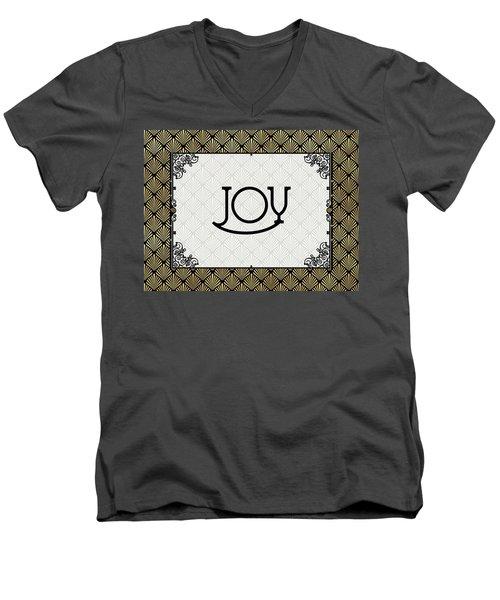 Joy - Art Deco Men's V-Neck T-Shirt