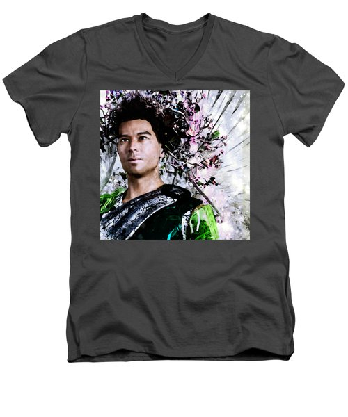 Joy Of Spring Men's V-Neck T-Shirt by Suzanne Silvir