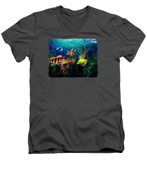 Joy To The Fishes  Men's V-Neck T-Shirt