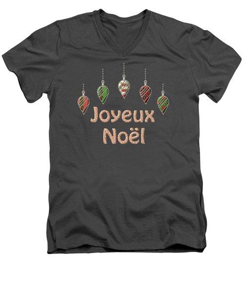 Joyeux Noel  French Merry Christmas Men's V-Neck T-Shirt