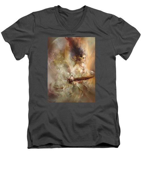 Joyment Men's V-Neck T-Shirt by Te Hu