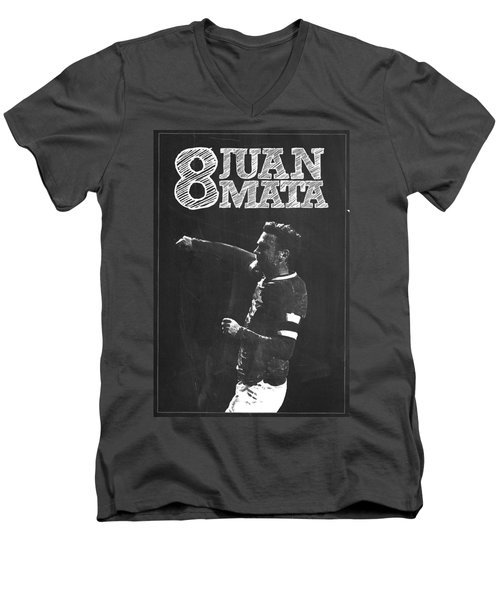 Juan Mata Men's V-Neck T-Shirt by Semih Yurdabak