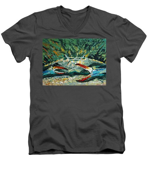 Men's V-Neck T-Shirt featuring the painting Jubilee Jewel by Suzanne McKee