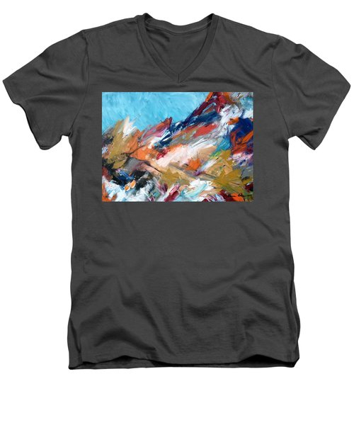 Judean Hill Abstract Men's V-Neck T-Shirt
