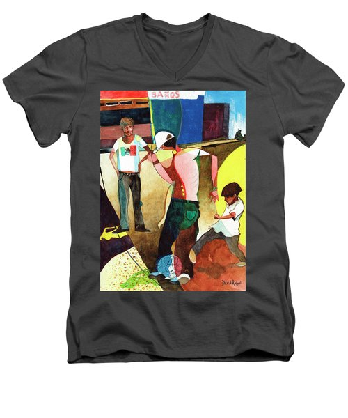 Jugando Men's V-Neck T-Shirt