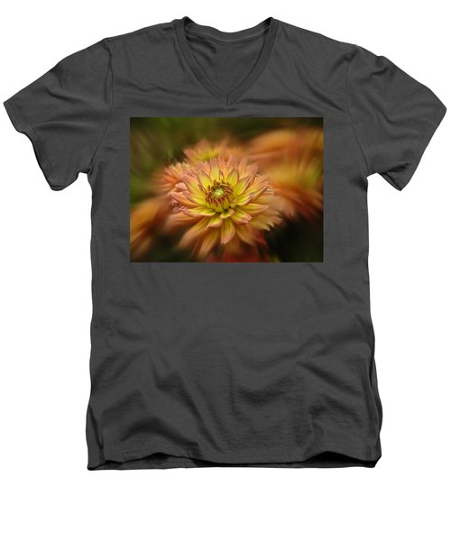 Juiy 2016 Dahlia Men's V-Neck T-Shirt by Richard Cummings